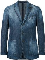 Lardini washed denim jacket