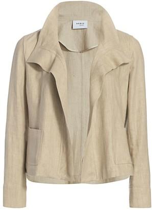 Akris Punto Raw Linen Jacket