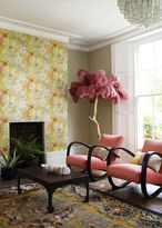 Matthew Williamson Lemon & Pink Bird of Paradise Wallpaper