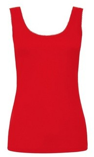 Dorothy Perkins Womens Red Pique Trim Vest, Red