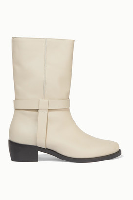 LEGRES 05 Leather Ankle Boots - Off-white
