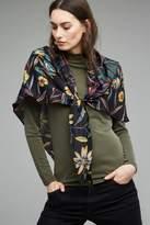 Anthropologie Marianne Floral Silk Triangle Scarf