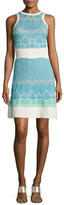 M Missoni Cotton Intarsia Racerback A Line Dress