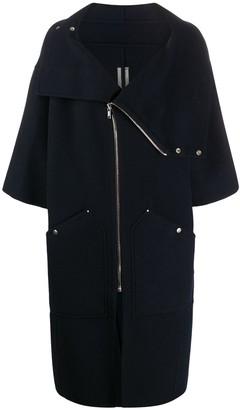 Rick Owens Oversized High-Neck Cashmere Coat