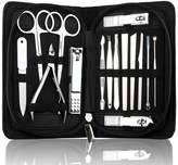 Osye 15Pcs Manicure Pedicure Set Nail Clipper Kits, Stainless Steel Hygiene Kit-Toenail Clippers with Travel Case