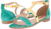 Rupert Sanderson Alva Color Block Flat Sandals