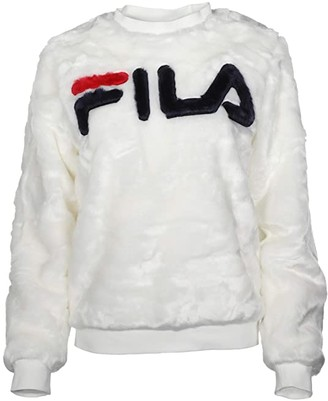 Fila Emmeline Sweatshirt (White/Peacoat/Red) Women's Clothing