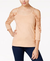 American Rag High-Low Cold-Shoulder Top, Only at Macy's
