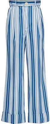 Miu Miu Striped Wide-Leg Jeans
