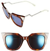 Fendi Women's 52Mm Cat Eye Sunglasses - Havana Palladium W43/ Xt