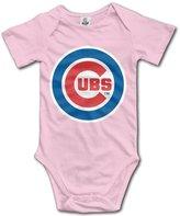 Enlove Chicago Cubs Logo BABY Geek Short Sleeves Variety Baby Onesies Bodysuit For Girls Size 6 M