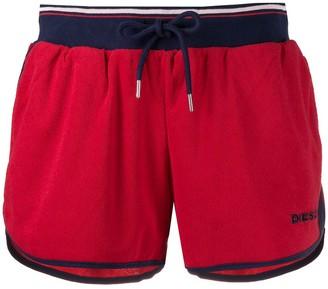 Diesel Contrast Trim Stripe Detail Shorts