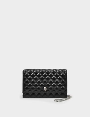 Alexander McQueen Skull Medium Bag in Black Mate Leather