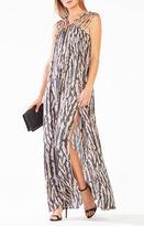BCBGMAXAZRIA Audrii Multi-Strap Animal Print Maxi Dress