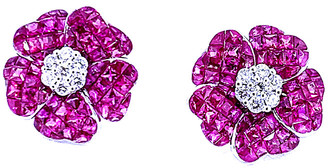 Arthur Marder Fine Jewelry 18K 5.10 Ct. Tw. Diamond & Ruby Earrings