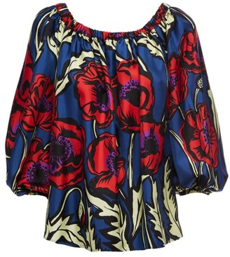 La DoubleJ Paloma Big Floral Off-The-Shoulder Top