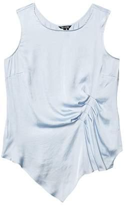 Nic+Zoe Petite Destination Drape Tank (Light Sky) Women's Clothing