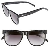 Komono Women's Riviera 54Mm Rectangular Sunglasses - Black Marble