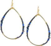 Nakamol Beaded Agate Teardrop Earrings, Blue Mix