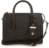 Kate Landry Status Crocodile-Embossed Square Satchel