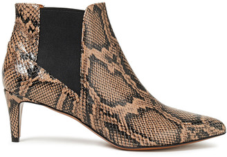 ATP ATELIER Cynara Snake-effect Leather Ankle Boots