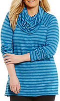Westbound Plus Long Sleeve Cowl Neck Swing Top