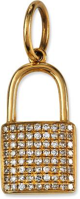 Siena Jewelry 14k Yellow Gold Diamond Pave Lock Charm