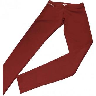 Prada Red Viscose Trousers