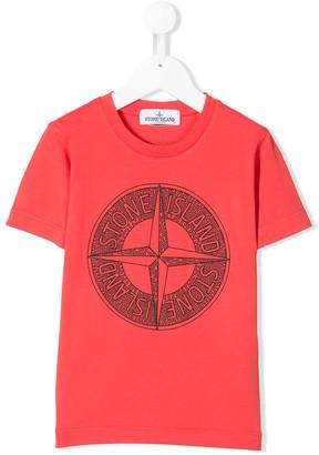 Stone Island Junior logo compass T-shirt