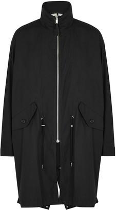 Helmut Lang Black reversible cotton-blend parka