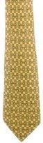 Hermes Horsebit Print Silk Tie