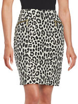 MICHAEL Michael Kors Animal Print Pencil Skirt