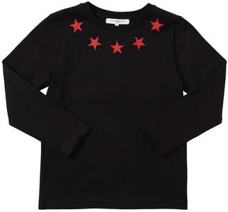 Givenchy STAR PRINT L/S COTTON JERSEY T-SHIRT