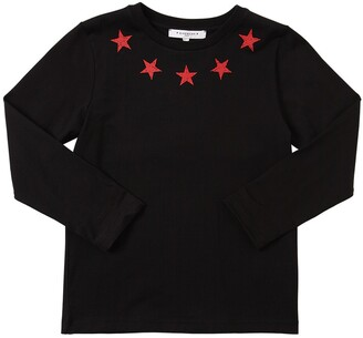 Givenchy Star Print L/s Cotton Jersey T-shirt