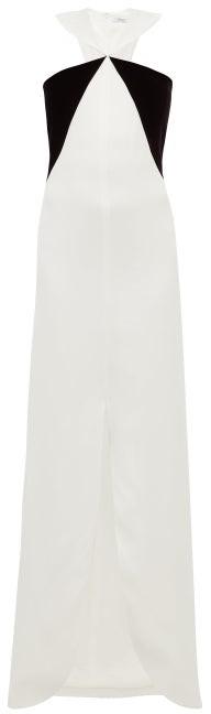 Givenchy Velvet-panel Crepe Gown - Black White