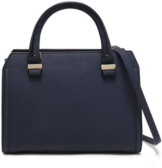 Victoria Beckham Patent-trimmed Leather Shoulder Bag