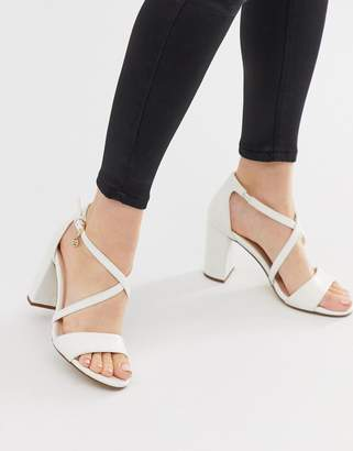 Miss KG cross strap block heeled sandal-White