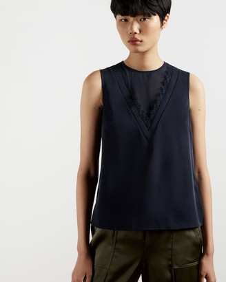 Ted Baker Lace Insert Sleeveless Top