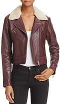 Veda Nova Shearling-Collar Leather Jacket - 100% Exclusive