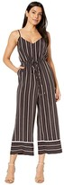 Vince Camuto Sleeveless Chic Thin Stripe Cami Jumpsuit (Rich Black) Women's Jumpsuit & Rompers One Piece