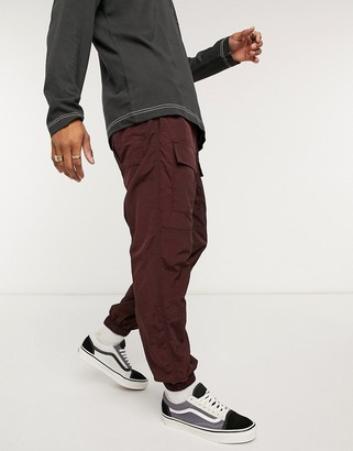 Entente multi pocket ripstop trouser in brown