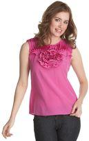 BCBGMAXAZRIA rose-applique blouse