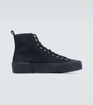 Jil Sander High-top canvas sneakers
