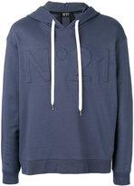 No.21 logo hoodie - men - Cotton/Polyamide - M