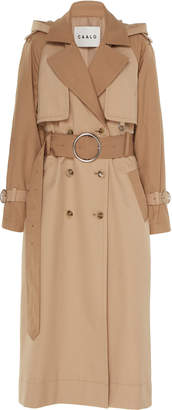 Caalo Long Hooded Trench Coat