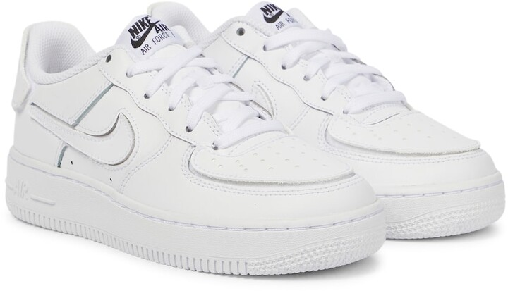 Nike Kids Air Force 1 leather sneakers