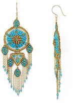 Miguel Ases Blue Frog Chandelier Earrings
