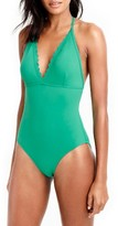 J.Crew Women's Scallop One-Piece Swimsuit