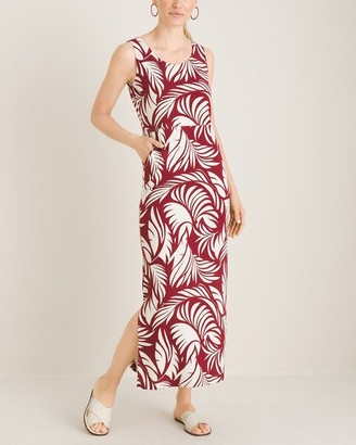 Chico's Tropical Leaf-Print Maxi Dress