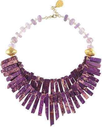Devon Leigh Amethyst & Imperial Jasper Statement Necklace